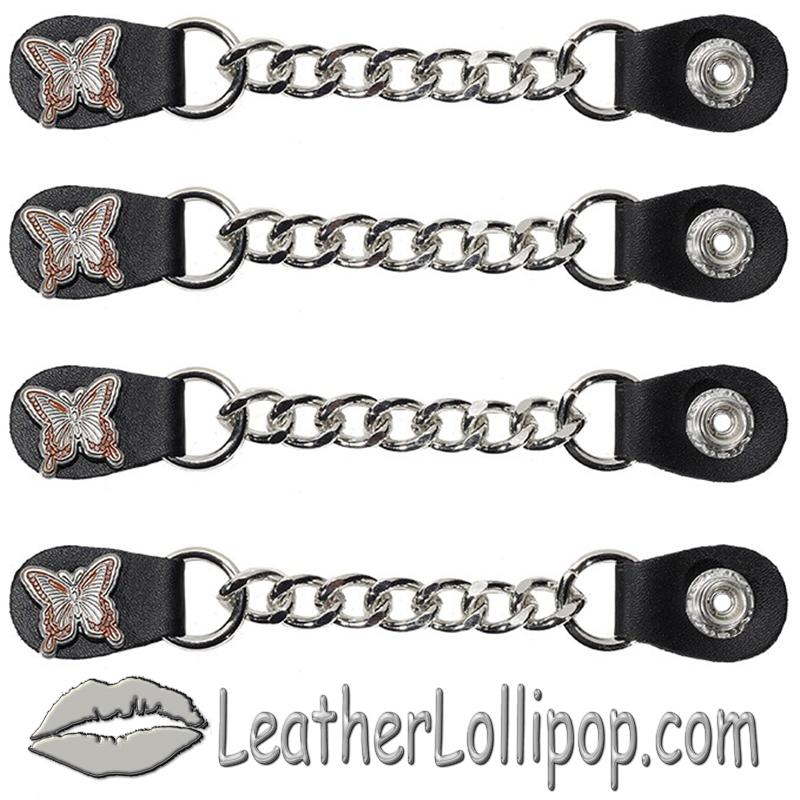 Set of Four Butterfly Vest Extenders with Single Chrome Chain - SKU AC1048-DL