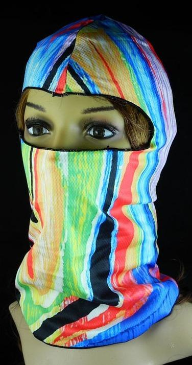 Balaclava Face Mask - Rainbow Design - SKU FMU03-BALA-HI
