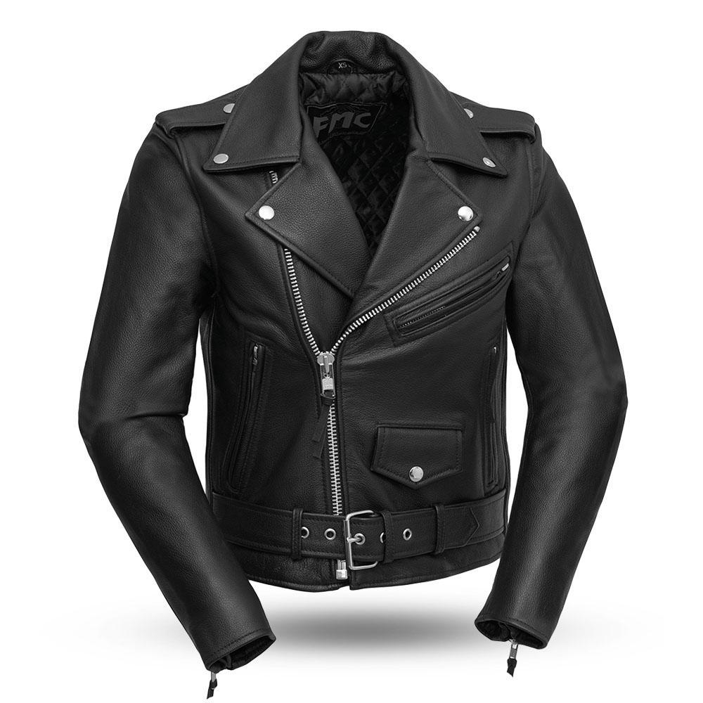 Bikerlicious - Women's Leather Motorcycle Jacket - FML137CRP