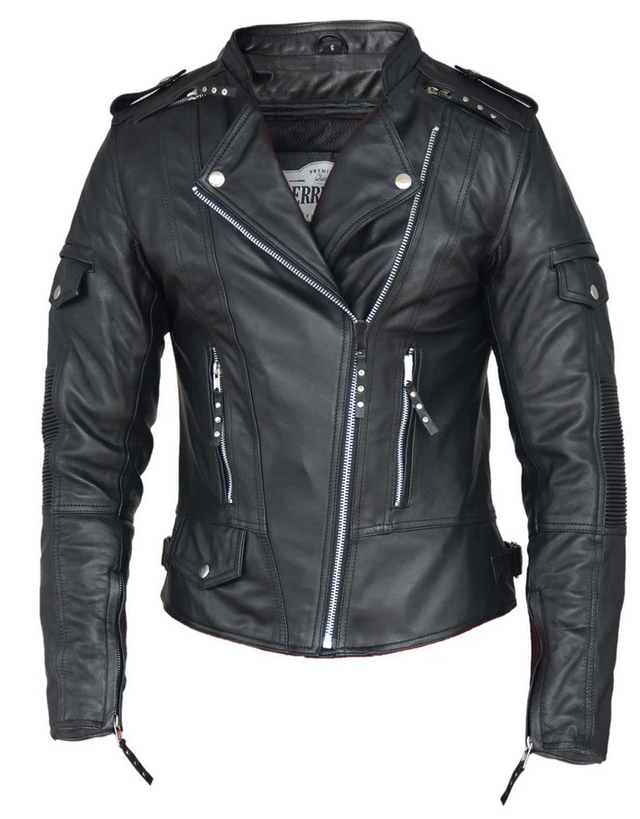 UNIK Ladies Premium Lambskin Leather Jacket - SKU 6845-00-UN