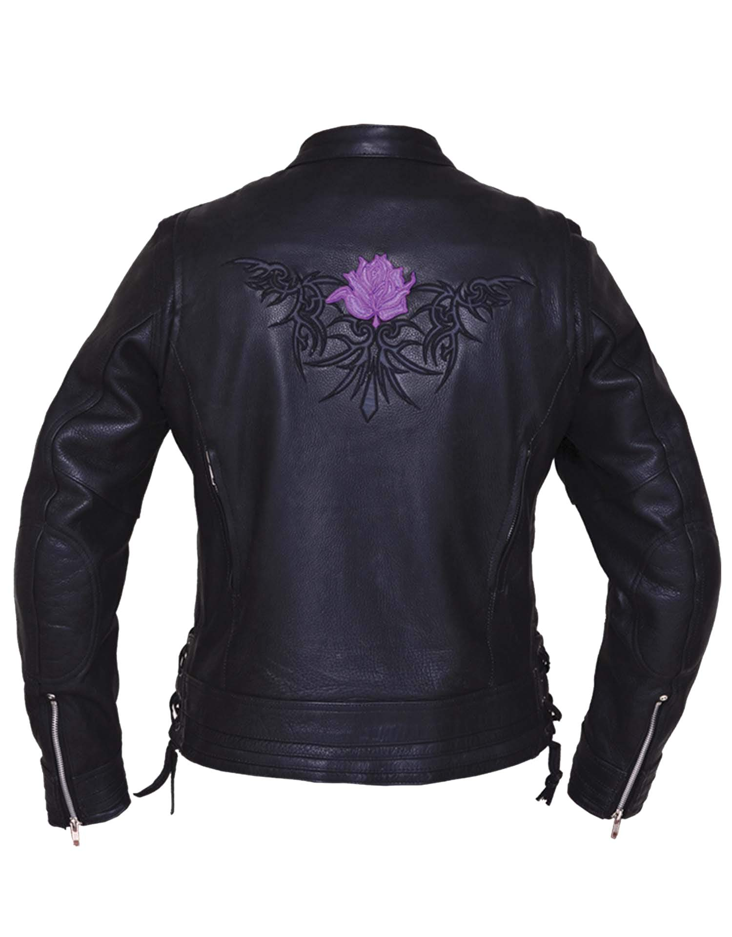 UNIK Ladies Premium Leather Motorcycle Jacket 2