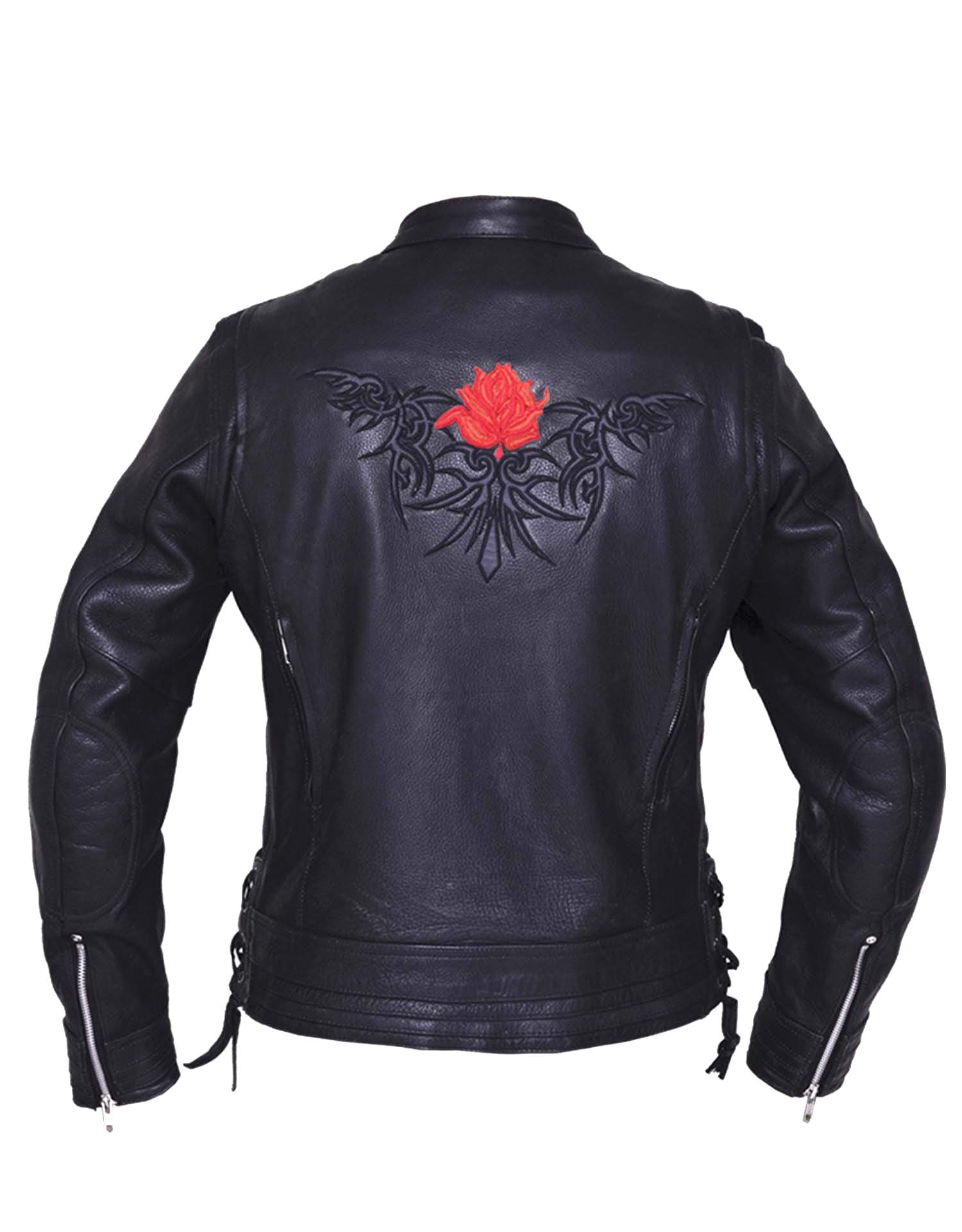 UNIK Ladies Ultra Leather Motorcycle Jacket 2