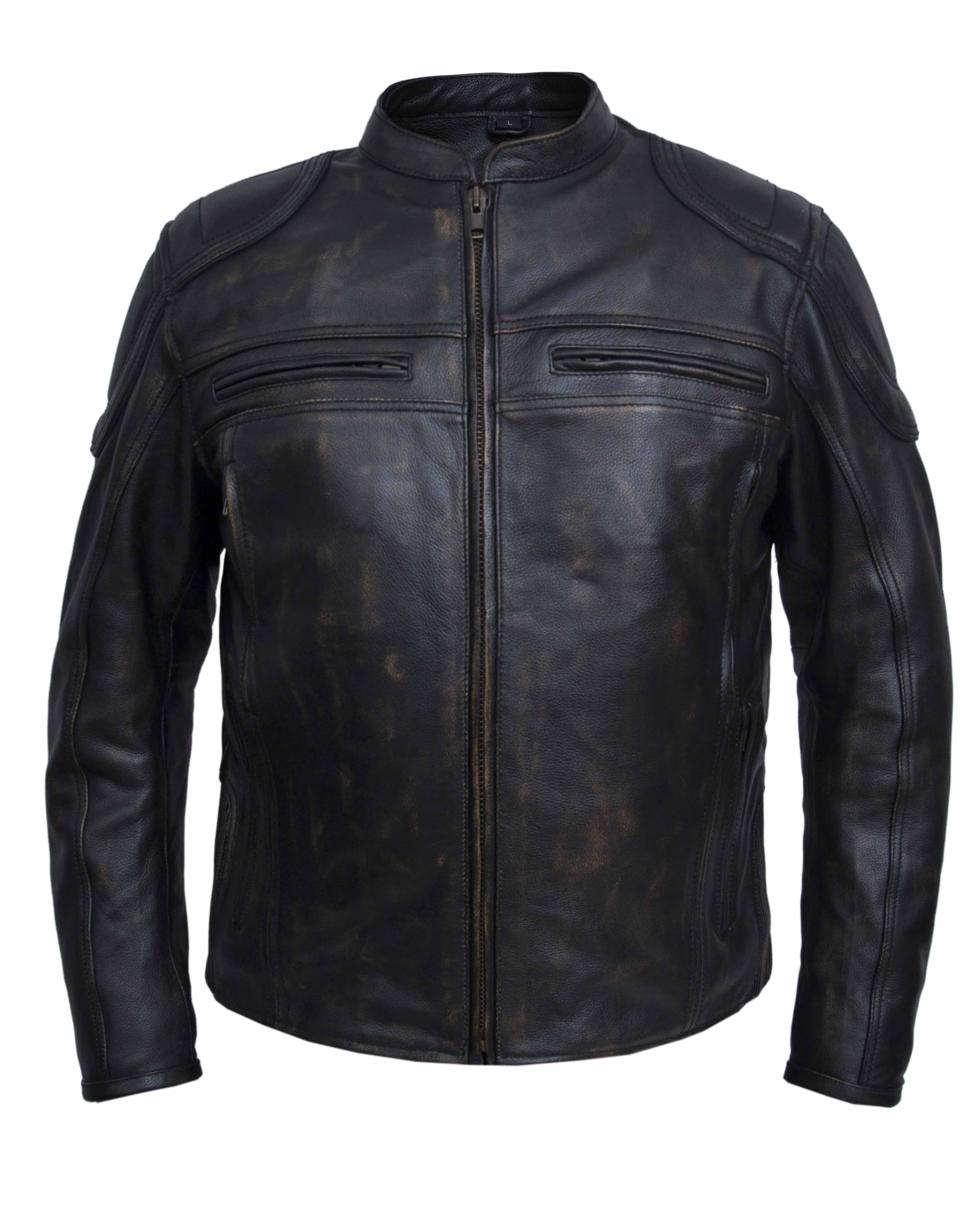 UNIK Men's Ultra Leather Nevada Brown Motorcycle Jacket