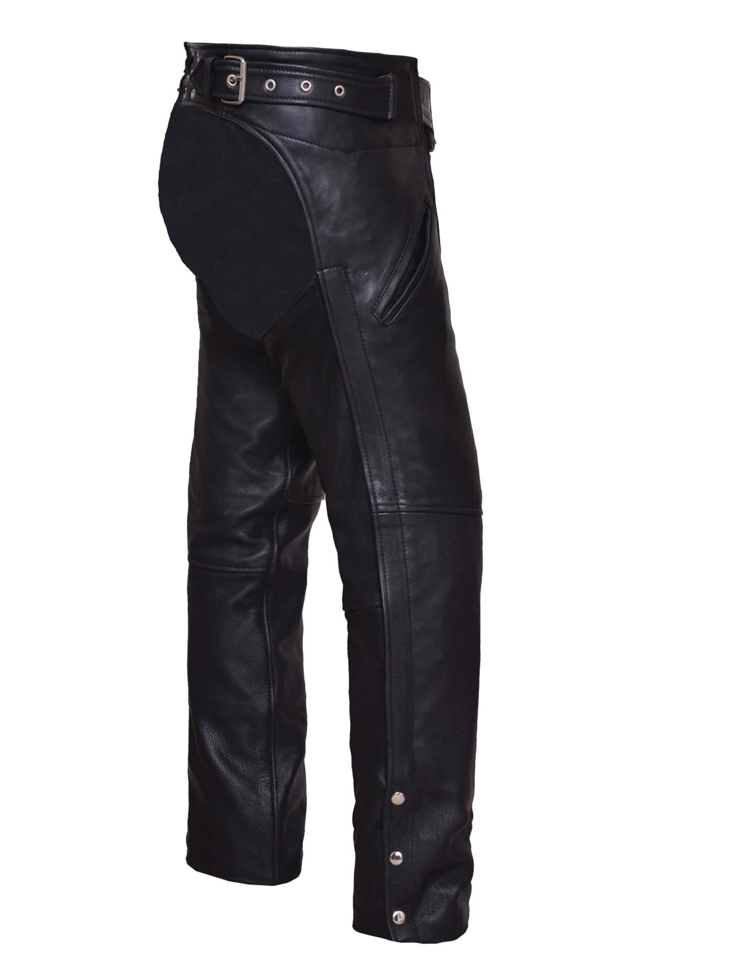 UNIK Unisex Ultra Leather Motorcycle Chaps - SKU 6126-00-UN