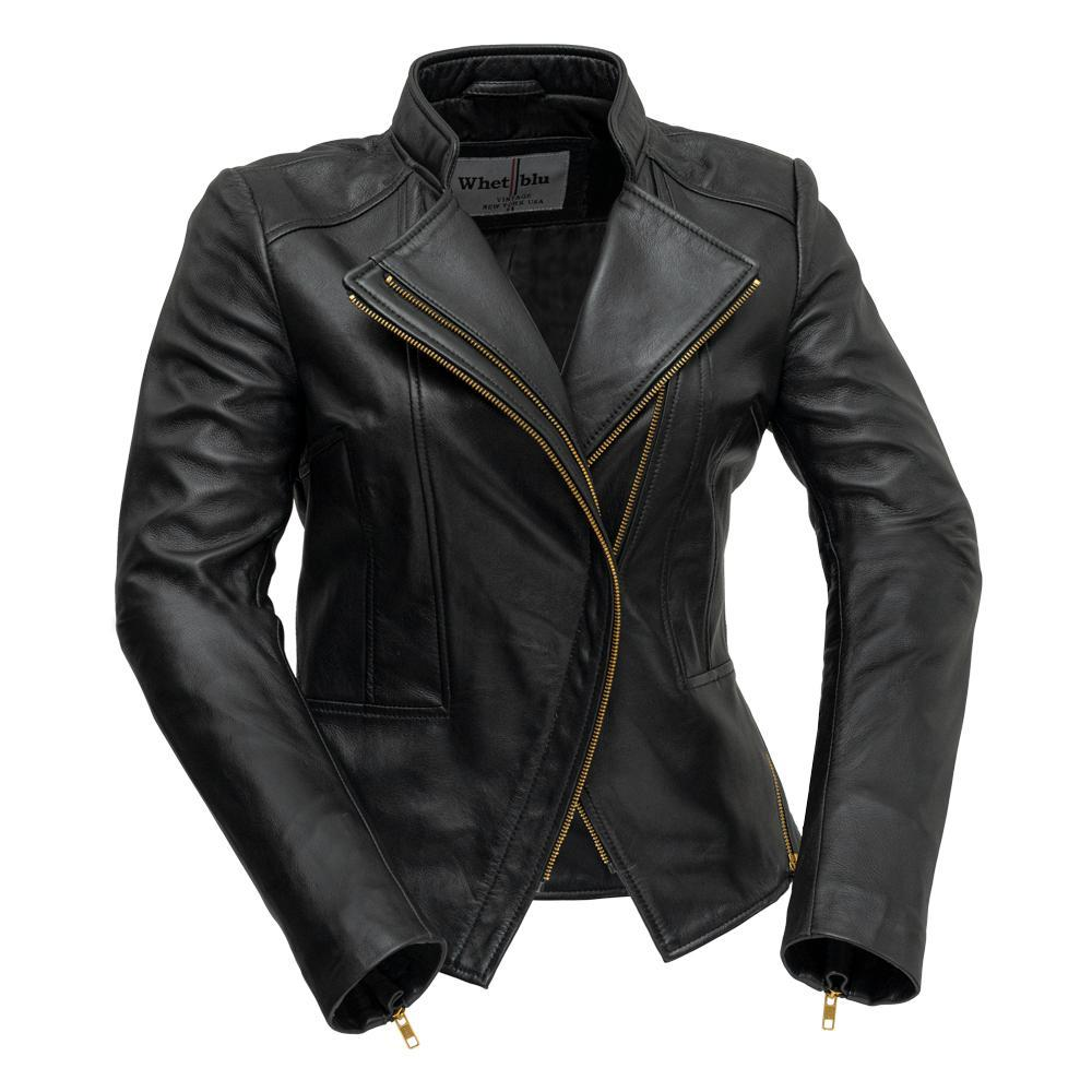 ZOEY - Ladies Leather Blazer Jacket - WBL1394