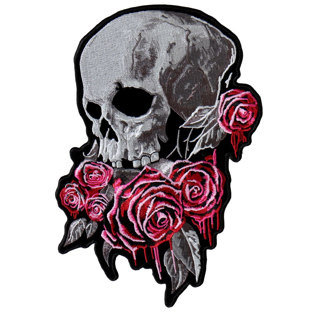 Bleeding Rose Skull Vest Patch - SKU PPA8310-HI