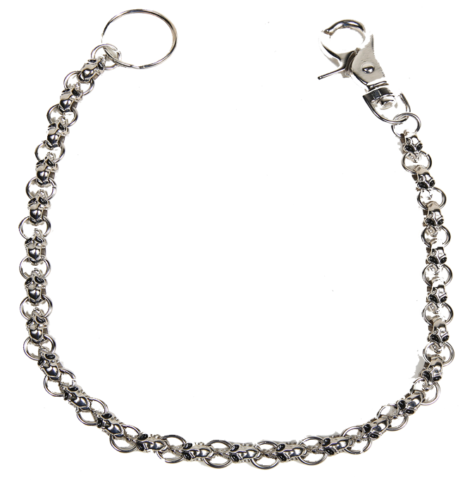 BOGO - Chain with Skulls, Great Addition to your Wallet - You Get Two - SKU WTC8-DL