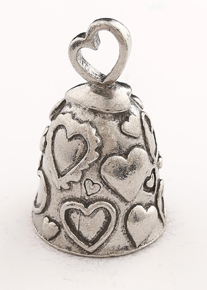 Heart - Pewter - Motorcycle Guardian Bell® - Made In USA - SKU GB-HEART-DS