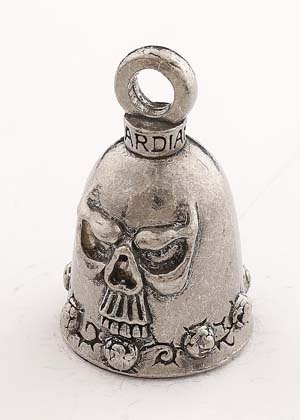 Skull - Pewter - Motorcycle Guardian Bell® - Made In USA - SKU GB-SKUDS