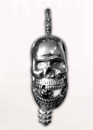 Skull Crush - Pewter - Motorcycle Guardian Bell® - Made In USA - SKU GB-SKUCRUSH-DS