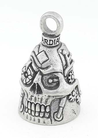 Steampunk Skull - Pewter - Motorcycle Guardian Bell® - Made In USA - SKU GB-STEAMPUNK-SKUDS