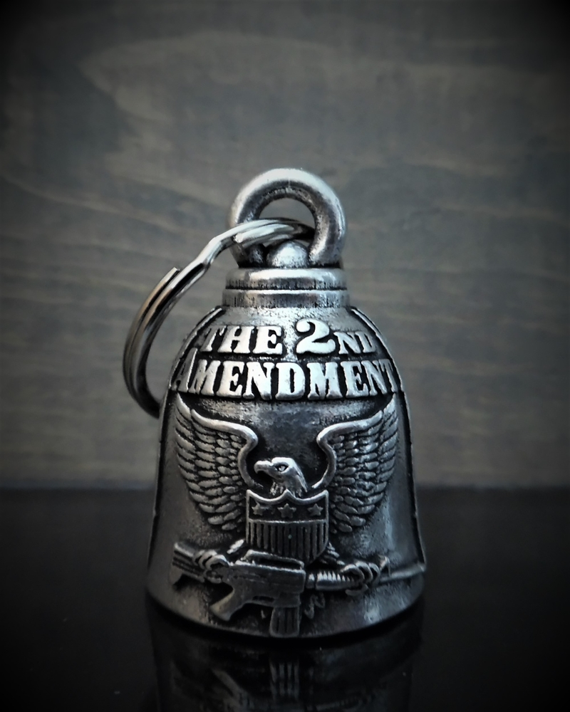 2nd Amendment - Pewter - Motorcycle Spirit Bell - Made In USA - SKU BB94-DS
