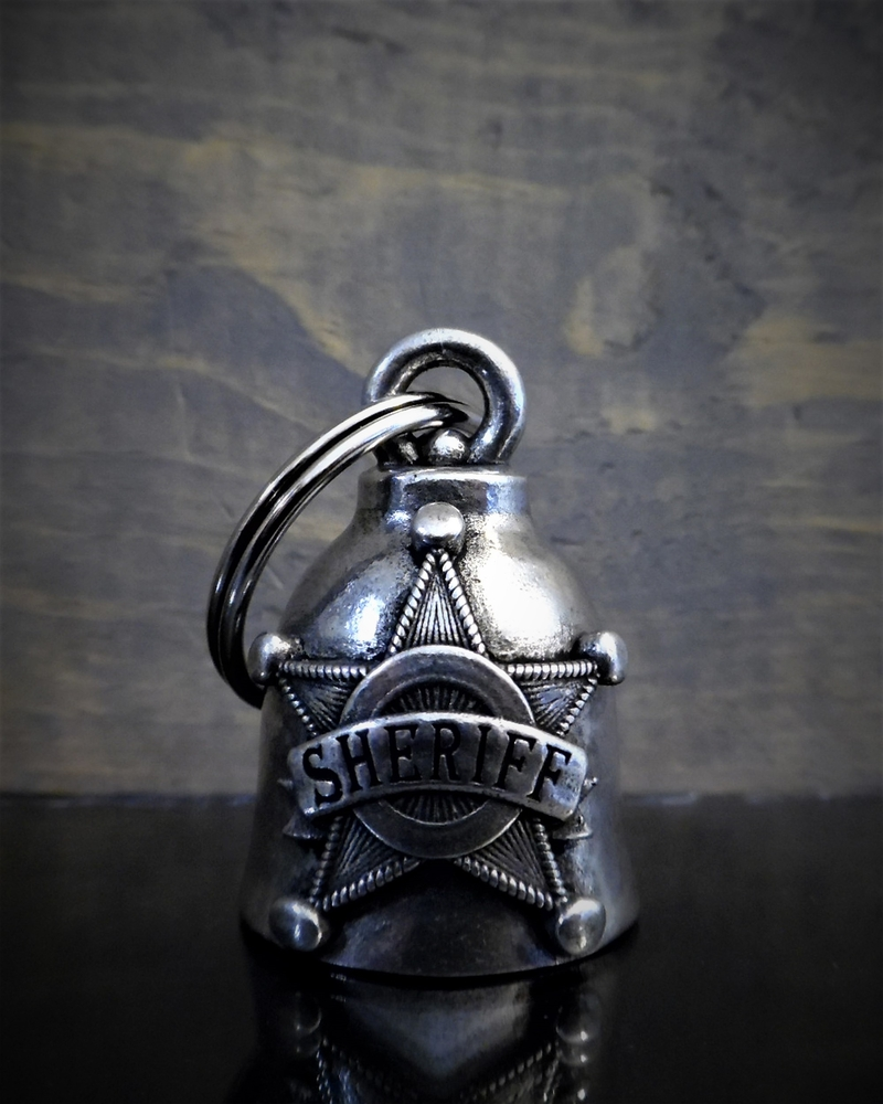 Sheriff Star - Pewter - Motorcycle Spirit Bell - Made In USA - SKU BB58-DS