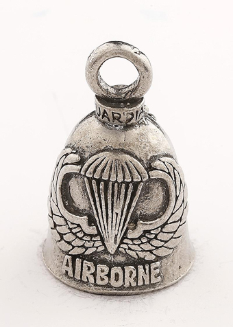 Airborne - Pewter - Motorcycle Guardian Bell - Made In USA - SKU GB-AIRBORNE-DS