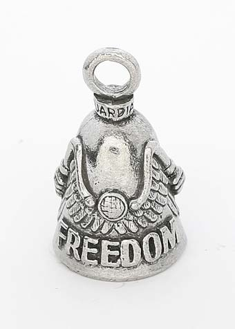 Freedom Rider - Pewter - Motorcycle Guardian Bell® - Made In USA - SKU GB-FREEDOM-RID-DS