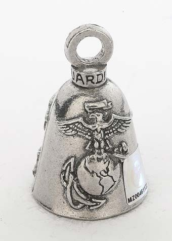 Marines - Semper Fi - Pewter - Motorcycle Guardian Bell® - Made In USA - SKU GB-MARINES-DS
