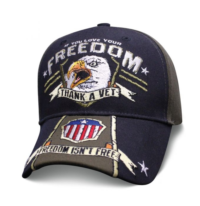 Eagle Scream - Freedom Isn't Free - Baseball Cap - Thank A Vet - SKU SEAGTV-DS