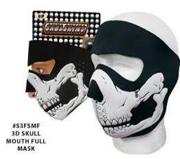 3D Skull Mouth Neoprene Full Face Mask - SKU 3DSKUHI