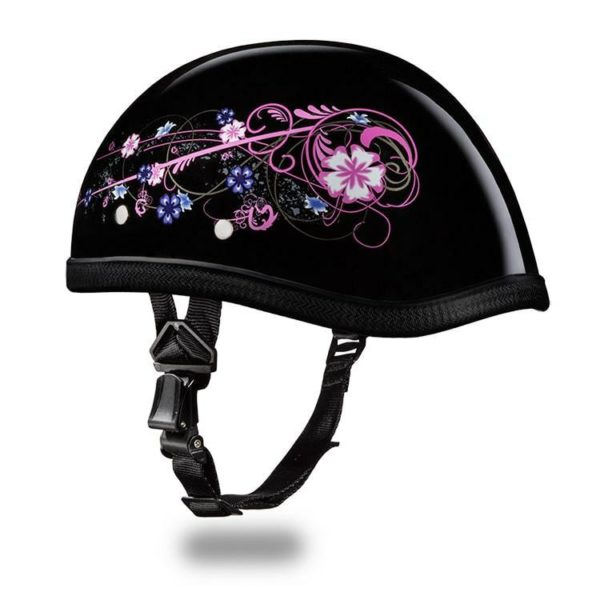 Eagle Style with Flowers Novelty Motorcycle Helmet - SKU 6002FLO-DH
