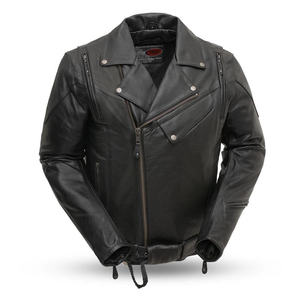 60's New Yorker Leather Motorcycle Riding Jacket - FIM210NOCZ-FM