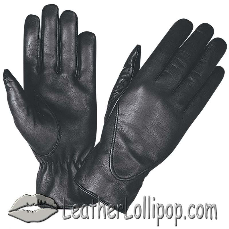 Ladies Full Finger Leather Motorcycle Riding Gloves - SKU 1265.00-UN