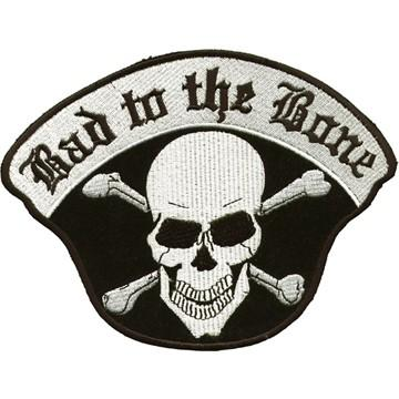 Bad To The Bone Skull Crossbones Patch - SKU PAT-C221-DL