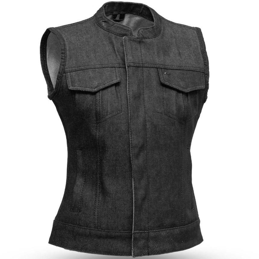 Ludlow - Denim Vest for Ladies - SKU FIL516DM-FM