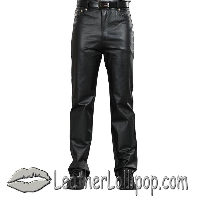 Mens 5 Pocket Leather Pants - SKU AL2500-AL