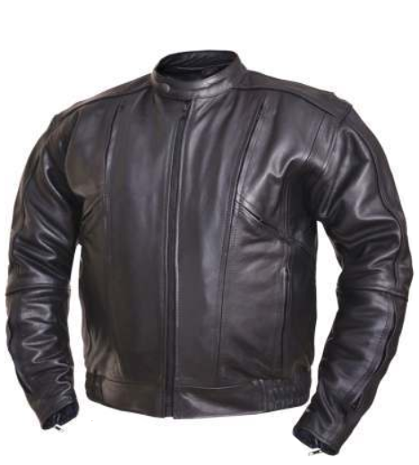 Mens Big and Tall Racer Euro Style Motorcycle Leather Jacket - SKU 0209.BT-UN