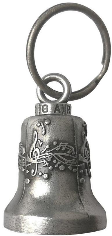 Musical Notes - Gun Metal Motorcycle Guardian Ride Bell - SKU BL37-GM-DL
