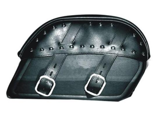 PVC Motorcycle Curved Top Slanted Saddlebags - SKU SD4083-PV-DL