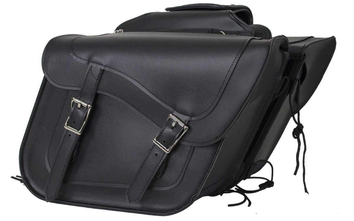 PVC Motorcycle Saddlebags With Gun Pockets - SKU SD4090-NS-PV-DL