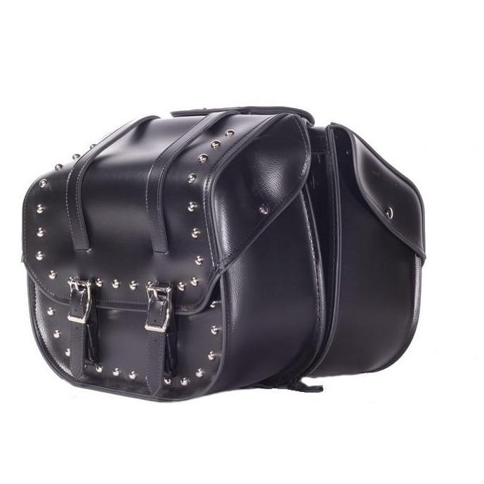 PVC Motorcycle Saddlebags with or without Studs - SKU SD4080-DL