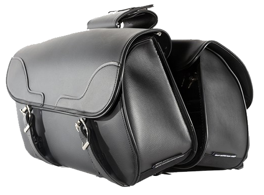 PVC Motorcycle Slanted Saddlebags - SKU SD4089-NS-PV-DL