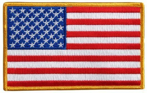 TWO American Flag Patches - Small - SKU LL-PPA1221-X2-HI
