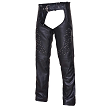 UNIK Ladies Premium Leather Motorcycle Chaps With Studs - SKU LL-7177-RF-UN
