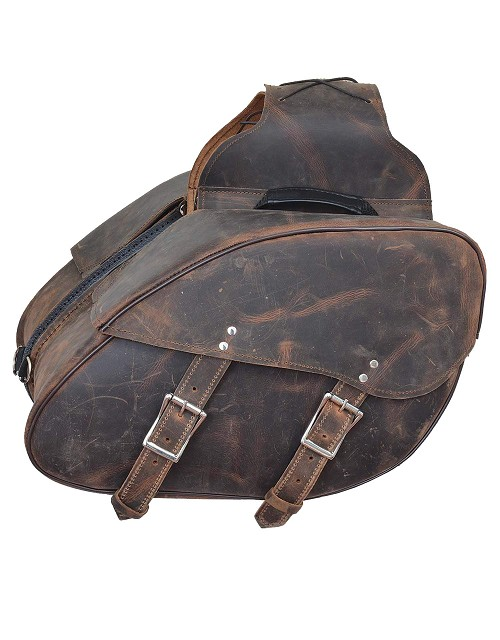 UNIK Leather Saddle Bags