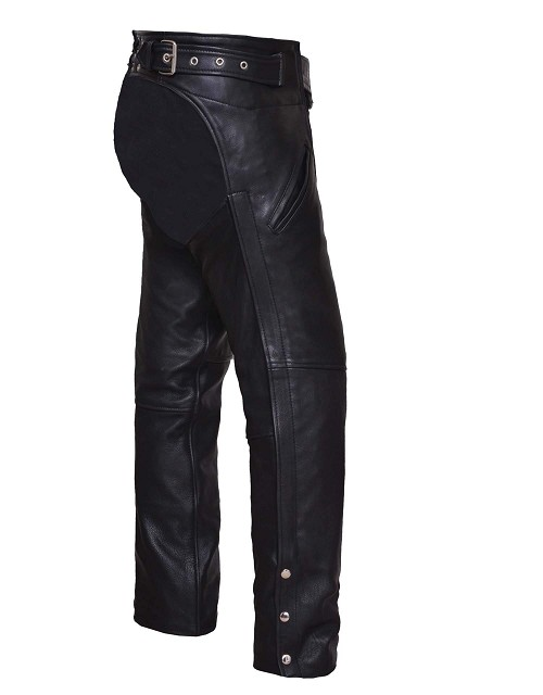 UNIK Unisex Ultra Leather Motorcycle Chaps - SKU LL-6126-00-UN