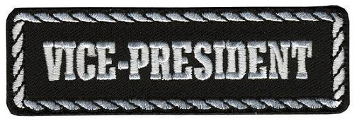 Vice-President Motorcycle Club Vest Patch - SKU LL-PPD1007-HI