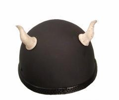 Bull Horns - Helmet Horns - Bone Gargoyle Horns - Motorcycle Helmet Accessories - SKU HA-32B-HI