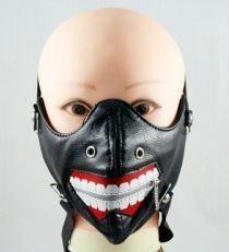 Buscemi Pleather Half Face Mask in Faux Leather - SKU LL-FMT13-HI
