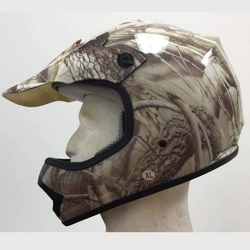 DOT Kids ATV - Dirt Bike - Motocross - Helmets - Camo Leaf - SKU LL-DOTATVKIDS-CAMOLEAF-HI