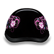 Eagle Style with Flowers Novelty Motorcycle Helmet - SKU LL-6002FLO-DH