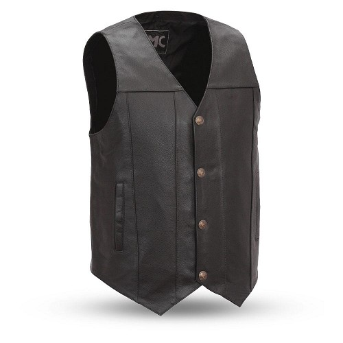 Gun Runner - Men's Leather Western Vest - SKU LL-FMM611BSF-FM