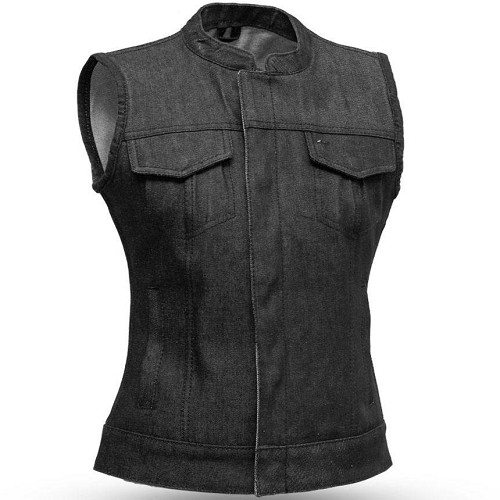 Ludlow - Denim Vest for Ladies - SKU LL-FIL516DM-FM